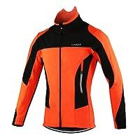 Lixada Hommes Cyclisme Veste Imperméable Thermique Respirant Cyclisme Vêtements Ensembles Long Manches Veste Imperméable + Pantalon de Vélo Pantalon (Optionnel)