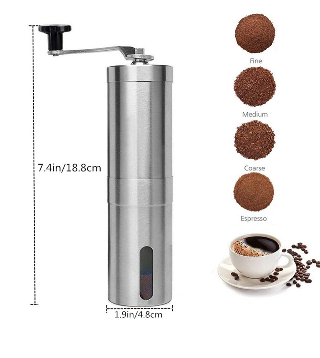 Emwel Whole Bean Manual Coffee Grinder
