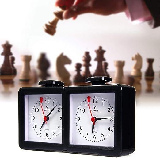 Instan Reloj de ajedrez Quarz Analog Reloj de ajedrez I-go Temporizador de Cuenta atrás Respetuoso con el Medio Ambiente y Duradero Fácil de operar para el ajedrez Chino Ajedrez Internacional ect: Amazon.es: