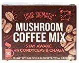 Four Sigmatic Mushroom Coffee with Lion s Mane and Chaga For Concentration + Focus, Vegan, Paleo, Gluten Free, 0.09 Ounce (10 Count)