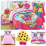 Shopkins Kids Complete Bedding Comforter Set with Scented Pillow Toy - Full