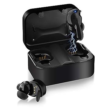 Auriculares Inalámbricos, Últimos TONOR Auriculares Inalámbricos Bluetooth 5.0 Emparajemiento Auto, Reproducción de 20H Bajos Sonido Incorporado Estéreo 3D ...