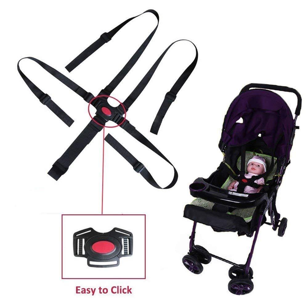 Cintur/ón de Seguridad para Beb/és,Beb/é Ni/ño Arn/és Ajustable de 5 Puntos Cinturones de Seguridad para la Silla de Paseo Silla Alta Cochecito Infantil Cochecito para Ni/ños