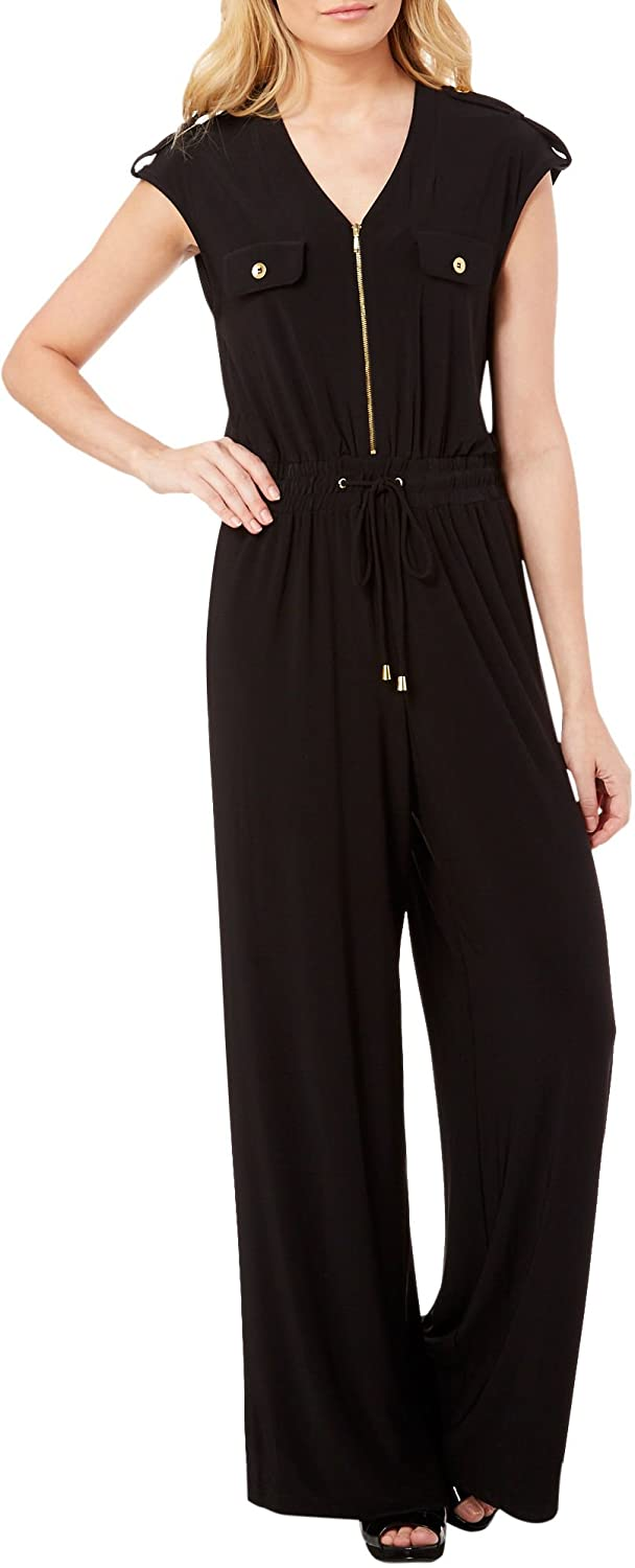 Emma & Michelle PANTS レディース B075FR698H  Soho Black Large