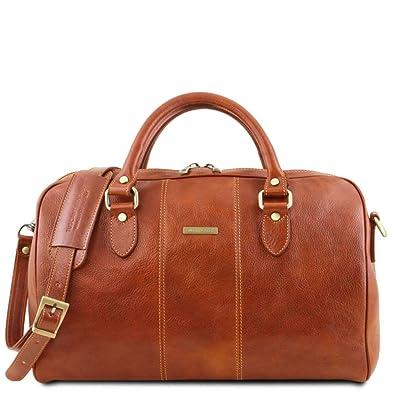 Tuscany Leather Lisbona Sac de voyage en cuir - Petit modèle Noir 5tr16T