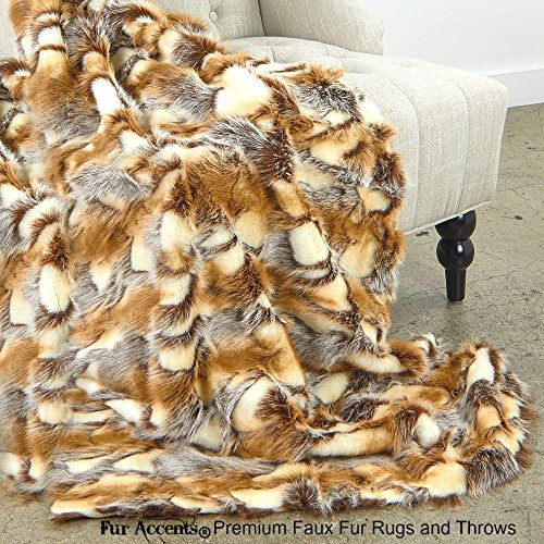 Sumptuous Luxury Faux Fur Throw Blanket - Designer for sale  Delivered anywhere in USA