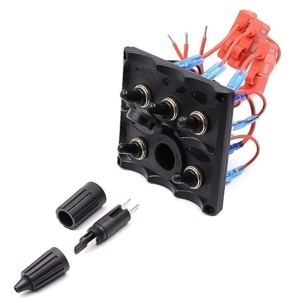 /24/V Interruptor Panel Hansee 5/Gang 12/ See han Rocker Interruptor IP66/Impermeable LED Rocker disyuntores para Coche Auto Barco Marino