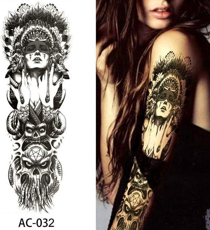 Etiqueta engomada del tatuaje del brazo grande Peonía colorida ...