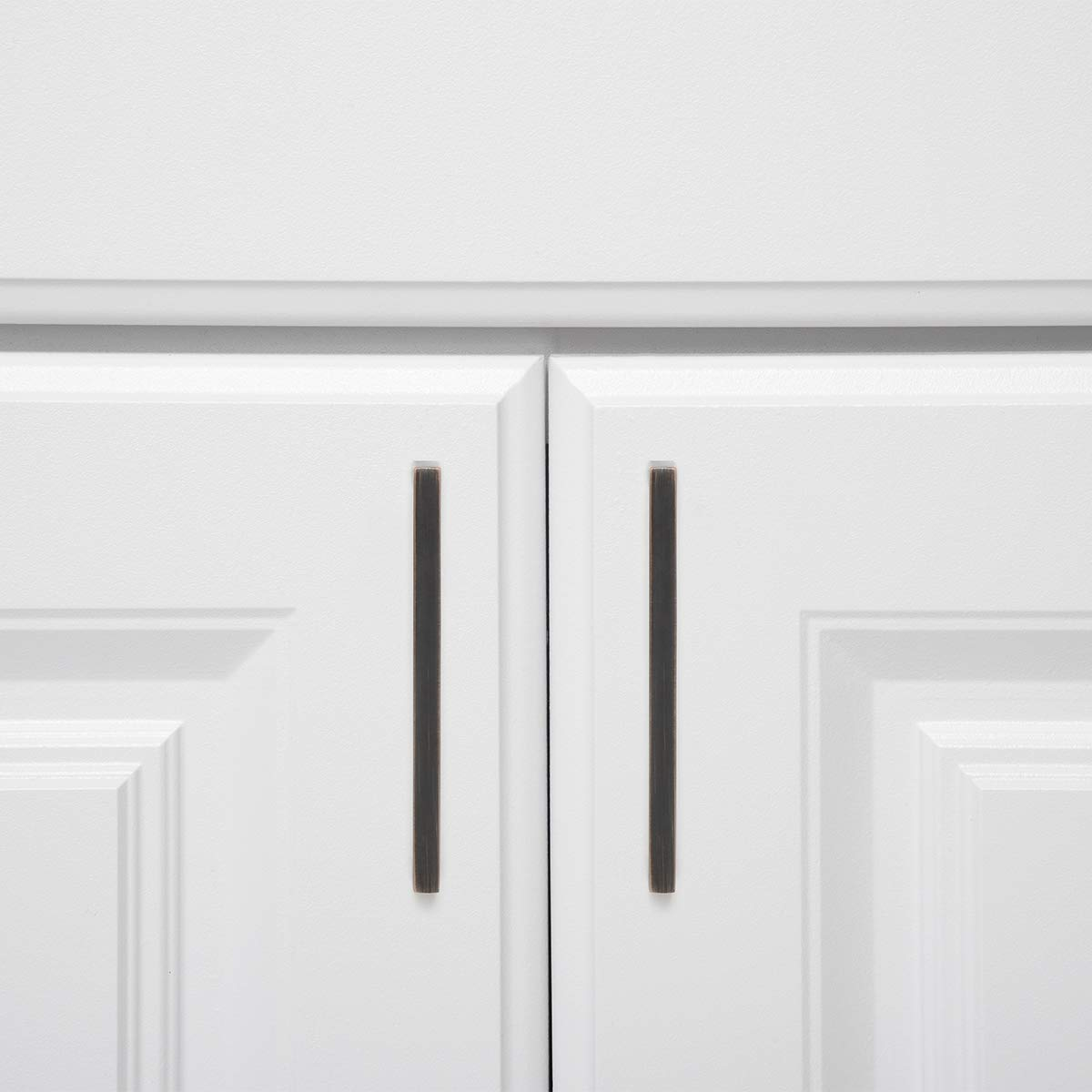 4.13 Length Basics AB3701-AB-10 Cabinet Pull 3.75 Hole Center Antique Brass