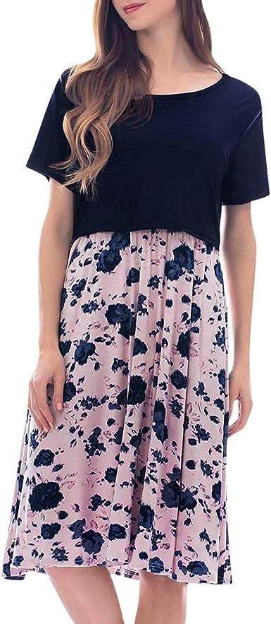 Vestidos Falda de Mujer Suelto Casuales Moda Costura Floral ...