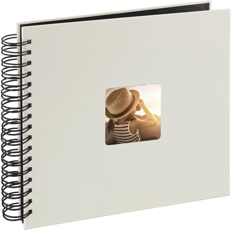 Hama Fine Art Fotos (50 páginas Negras, álbum con Espiral, 22,5 x 23 cm, Compartimento para Insertar Foto), Papel, Tiza