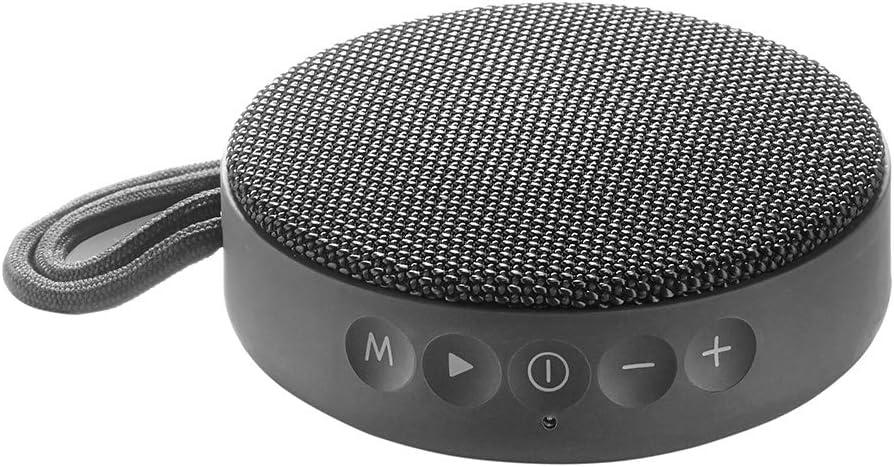 Vieta Pro Round Up - Altavoz inalámbrico (Bluetooth, radio FM, reproductor USB, entrada micro SD, auxiliar, micrófono integrado) plomo