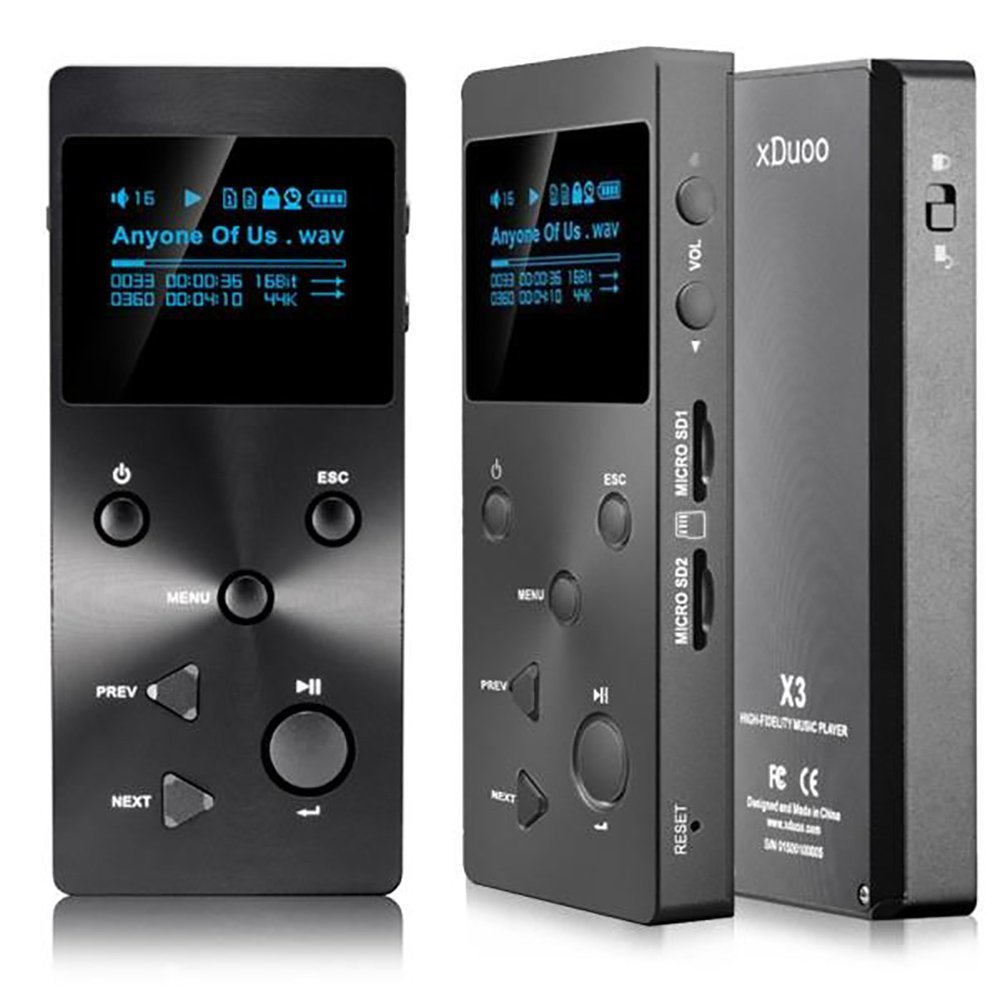 MP3 Player,Ounice XDUOO X3 HIFI MP3 Music Player Lossless Music Player with HD OLED Screen(Black) by xDuoo