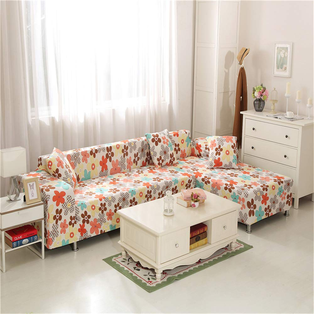 Funda Sofá Universal Estiramiento, Morbuy Planta Flores Estampado Sofá Cubre Sofá Funda Furniture Protector Antideslizante Elastic Soft Sofa Couch ...