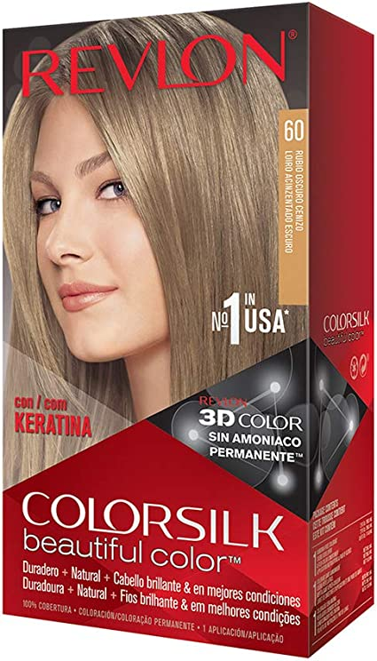 Revlon Colorsilk - Tinte, color 60-rubio oscuro cenizo, 200 gr