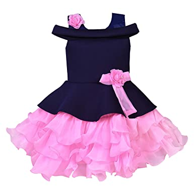 cae3dfb32 Wish Karo Baby Girls Frock Birthday Dress for Girls - Net -(bxa172 ...