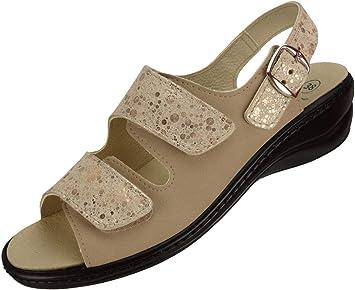 Algemare Damen Sommer Sandalette 'Melange' Sandale