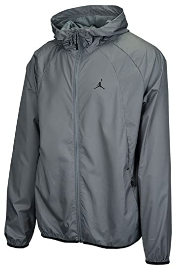 5909d4ccb0e Nike Men's Jordan Sportswear Wings Windbreaker Jacket Cool Grey/Black  (X-Large)