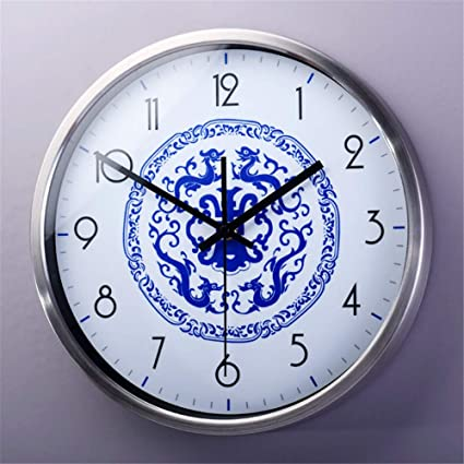 Silent wallclock dustproof Glass Cover La quintaesencia China arte Simple sala de Estar dormitorio decoración Estilo
