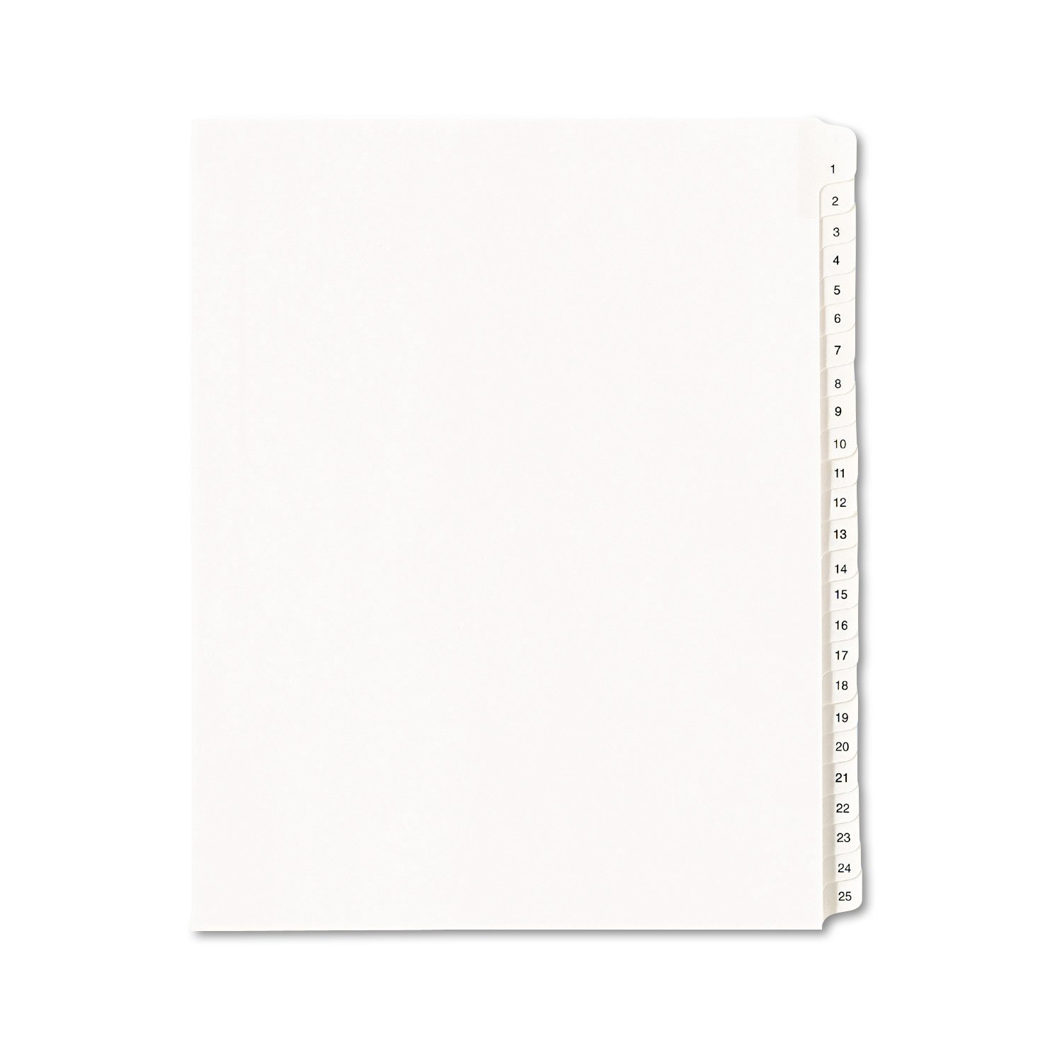 Avery Collated Legal Dividers Allstate, Letter Size, Tabs 1-25, White, 1 Set (1701)