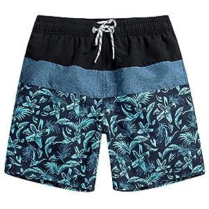 MaaMgic Mens Quick Dry Short Swim Trunks With Mesh Lining Swimwear Bathing Suits