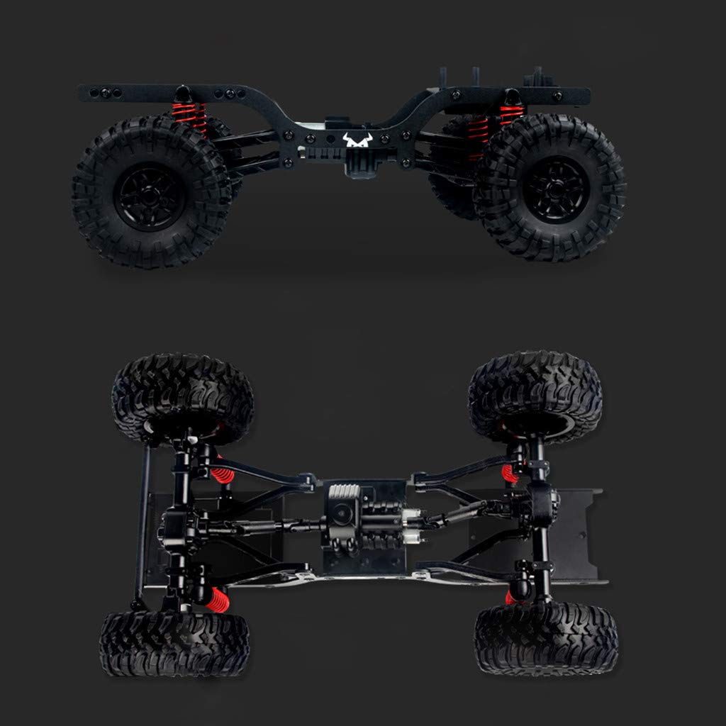 2019 Hot Childrens Day Front LED Light 1:12 4WD RC Car Off-Road Military Rock Crawler Truck Buggy Toys Kids Gift (Orange) by Aurorax Electric (Image #1)