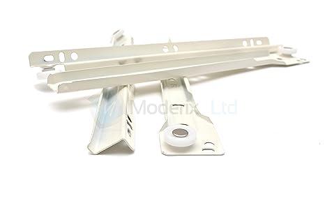 de GTV color blanco 450 mm Gu/ías correderas met/álicas para caj/ón
