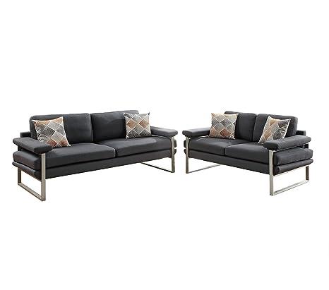 Stupendous Amazon Com Poundex F6557 Bobkona Orel Sofa Loveseat Ash Theyellowbook Wood Chair Design Ideas Theyellowbookinfo