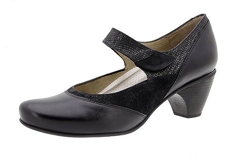 fbeb7451802 Zapatos cómodos Mujer PieSanto - Plantilla Extraible - Piel Disponible en Colores  Burdeos y Negro