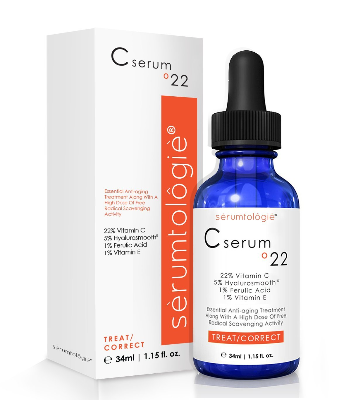 vitamin c serum 22 by serumtologie anti aging moisturizer oz new cad. Black Bedroom Furniture Sets. Home Design Ideas