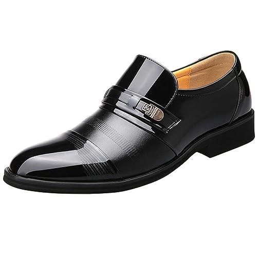 SPEEDEVE Zapatos Casuales Para Hombre Negro 40 IB0sybn