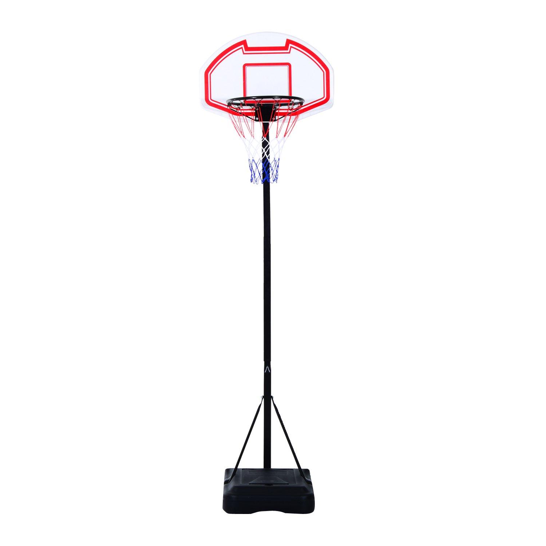 Canasta de Baloncesto Plegable Altura Ajustable 165-210cm Basket Red y Tablero HOMCOM
