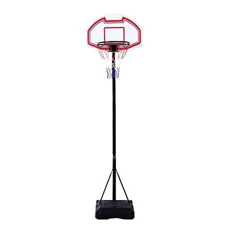 HOMCOM Canasta de Baloncesto Plegable Altura Ajustable 165-210cm ...