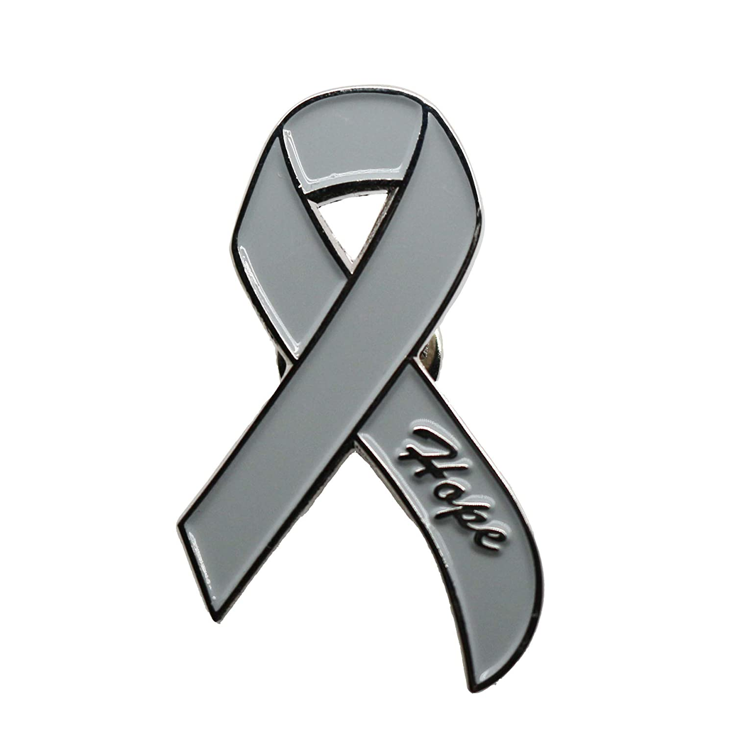 Amazon com danxyn enamel grey ribbon lapel pin brain cancer injury awareness pin jewelry