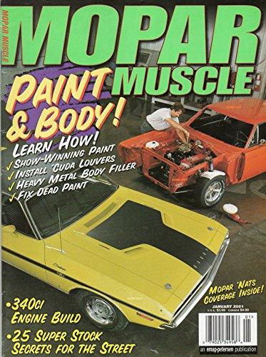 - Mopar Muscle January 2001 Magazine 25 SUPER STOCK SECRETS FOR THE STREET Mopar 'Nats Coverage Inside 340ci ENGINE BUILD