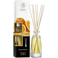 Reed Diffuser Orange 100ml with Rattan Sticks - Room Diffuser - Home Fragrance - Aromatherapy Air Freshener with Orange…
