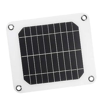 P Prettyia 5W Panel Solar Cargador Solar Portátil Tablero ...