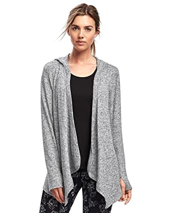 bf3cbd6f731f2e Amazon.com: Old Navy Trendy Open-Front Jersey Hoodie for Women (Heather  Grey, Small): Clothing