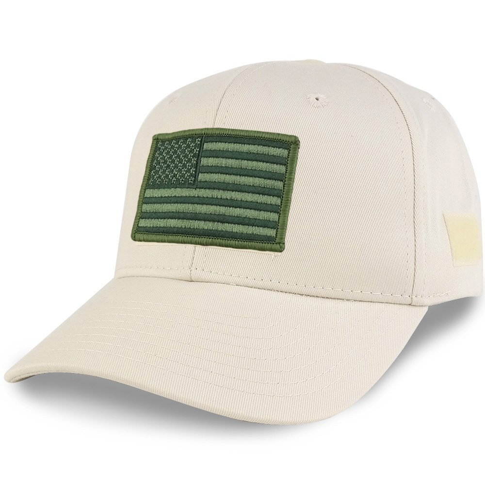 Armycrew USA Flag Olive 2 Embroidered Tactical Patch Adjustable Structured Operator Cap