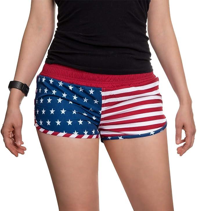 Calhoun bandera de Estados Unidos para mujer printed – Pantalones cortos: Amazon.es: Ropa y accesorios