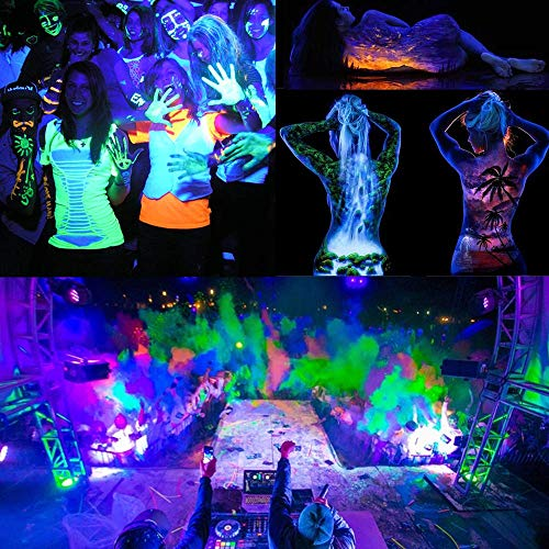 RONSHE UV LED Black Light, 50W Outdoor Ultra Violet LED Flood Light, IP66 Waterproof Blacklights for Dance Party, Neon Glow, Stage Lighting, Body Art Paint, Glow in The Dark Party Supplies by RONSHE (Image #2)