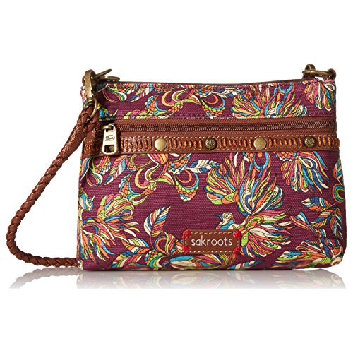 711640522936 - Sakroots Artist Circle Campus Mini Cross Body Mulberry Treehouse carousel main 0
