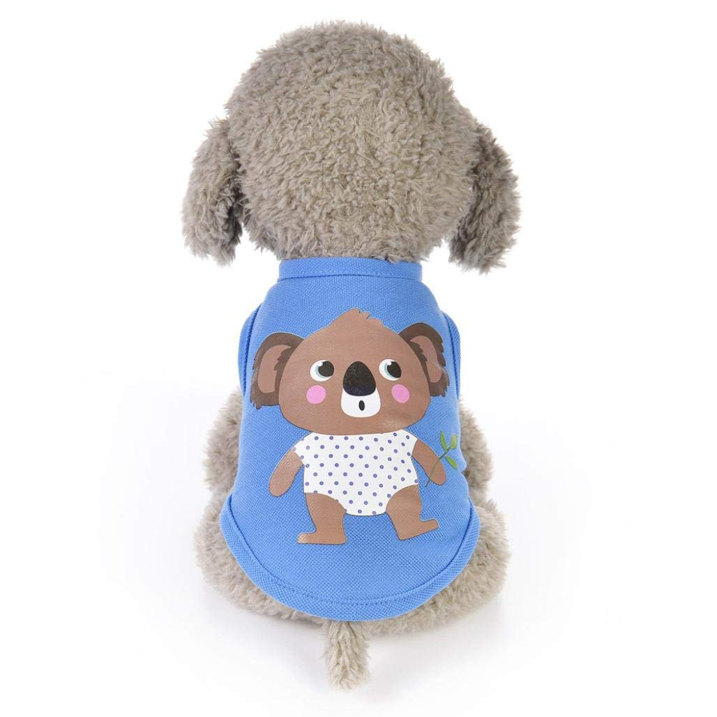 Cywulin Puppy Clothes, Fashion Pet Clothing Summer Cool Shirt Small Dog Cat Costume Vest Sleeveless T Shirt Jacket Apparel
