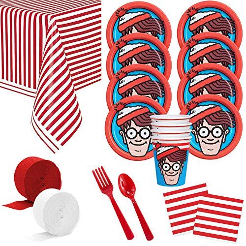Costume SuperCenter Where's Waldo Deluxe Tableware Kit (Serves 8)