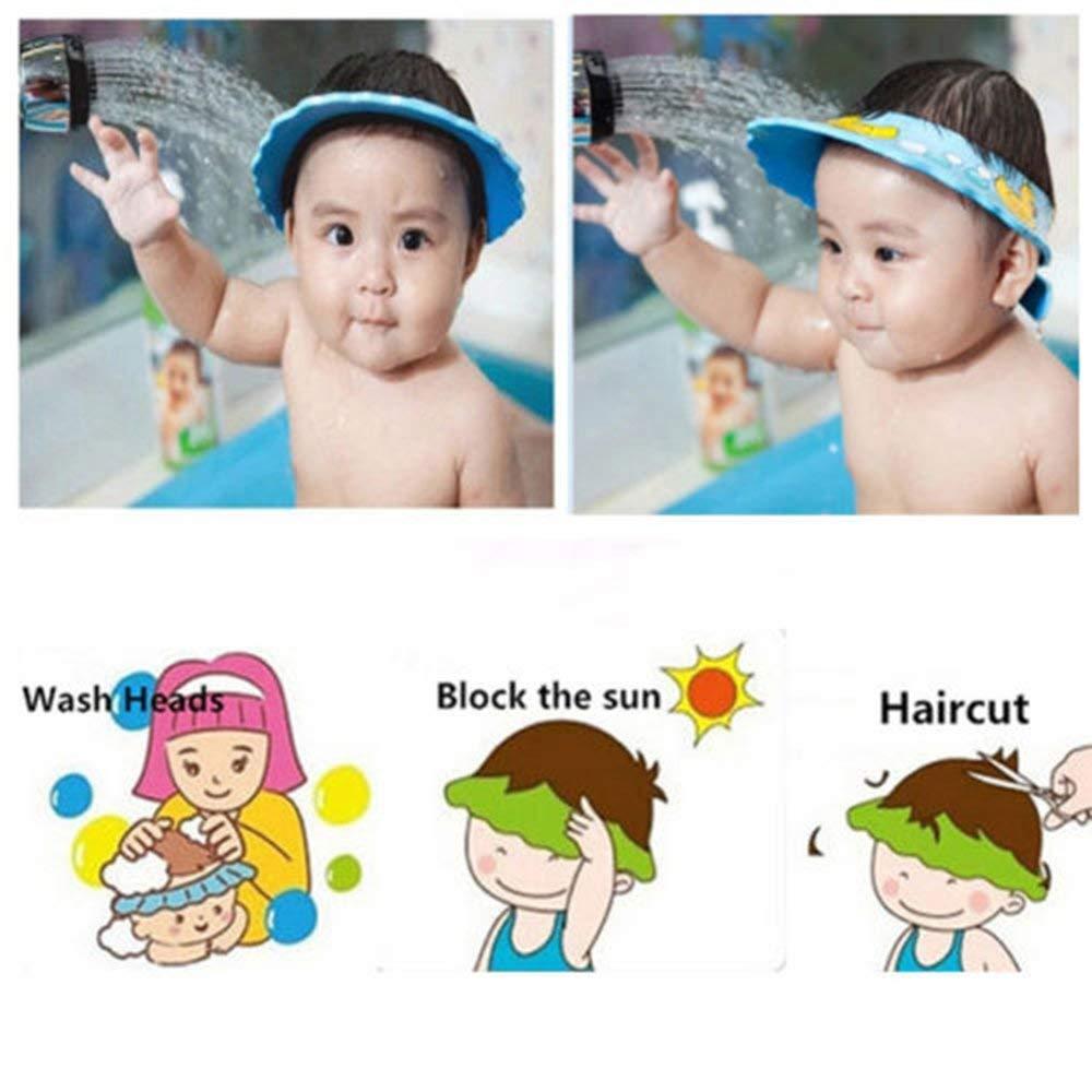 Alivier Ajustable suave ni/ños ni/ños beb/é champ/ú ba/ño ducha gorro sombrero lavar el pelo impermeable escudo