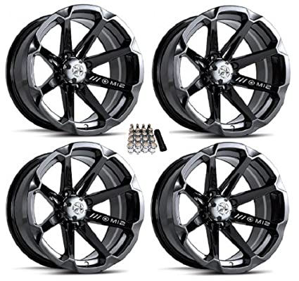 Amazon com: MSA M12 Diesel ATV Wheels/Rims Black 15