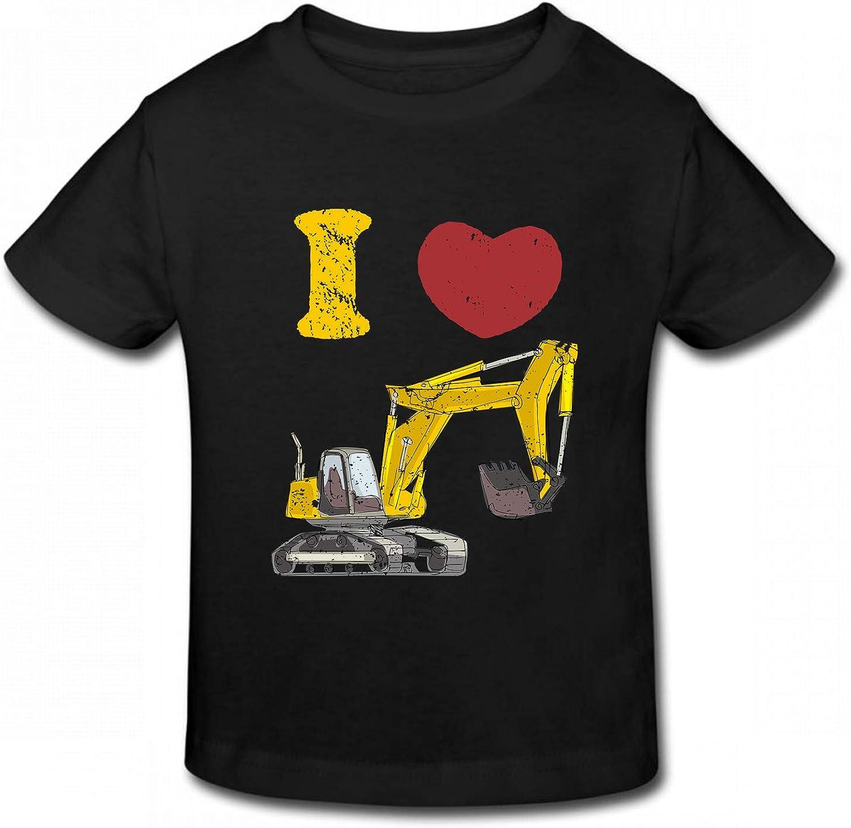 Waldeal Little Boys' Cute I Love Trash Garbage Toddler T Shirt Kids Birthday Graphic Tee