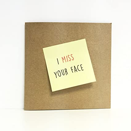 Extraño tu cara tarjeta Post-it - gracioso, amigo, colega ...