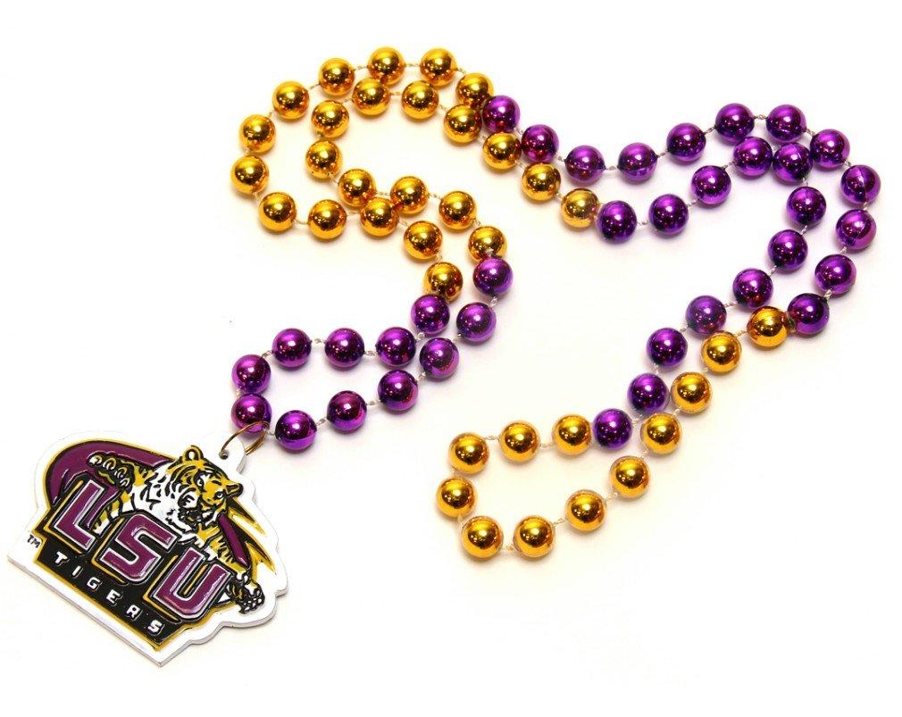 Sconosciuto NCAA Perline Perline Perline con Medaglione, LSU Tigers | Conveniente  | Una Grande Varietà Di Merci  | Ha una lunga reputazione  | Italia  | Sconto  | Ottima qualità  809dda
