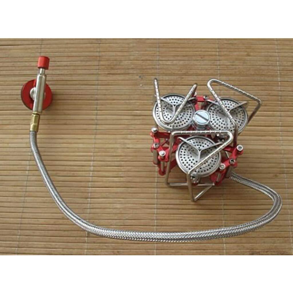 perfeclan Propanschlauch Camping Gasschlauch Campingschlauch Gasherd Adapter aus Gummi